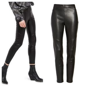 Free People Faux Leather Black Leggings Size 30